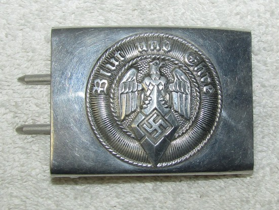 Unissued Condition Hitler Youth Aluminum Alloy Belt Buckle-RZM M4/23 (Dr. Franke)