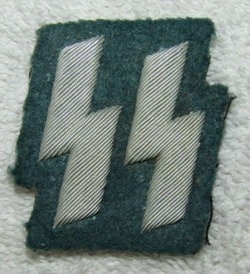 Scarce WW2 Nazi Police Serving With The Gestapo/Waffen SS Bullion Runic SS Member Patch-RZM Tag