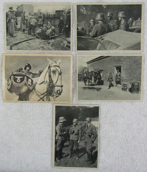 5pcs-Original Nazi SS Police Photo Post Cards