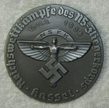 NSFK Large Round Table Medallion Award For Flight Competition-Kassel Aug. 12-14th 1938