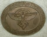 1938 NSFK Award Medallion For Flight- Numbered