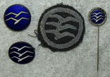 4pcs-NSFK Glider Proficiency Insignia-3 Are Certificate