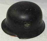 WW2 Civil Police Double Decal M34 Helmet