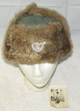 1944 Dated Nazi Police Cold Weather Rabbit Fur Hat With Vet Provenance Photograph
