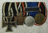WW1/WW2 Four Place Parade Mount Medal Bar