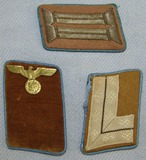 3pcs-Early Third Reich Period Political Leader Orts Level Collar Tabs