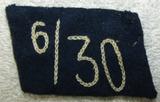 Rare 6th Sturm/30th SA Naval Marine Standarte Single Collar Tab-RZM Tag