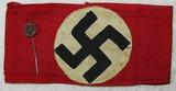 2pcs-Early Third Reich SA/NSDAP Multi Piece Armband-SA Supporter Stickpin W/Silver Hallmark
