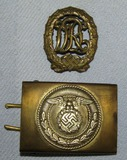 2pcs-DRL Badge In Bronze- SA Belt Buckle For Enlisted