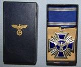 Rare WW2 Period NSDAP 15yr Long Service Medal W/Issue Box-C.E. Juncker