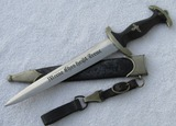 Early SS Dagger For Enlisted With Scabbard/Hanger/Belt Loop-ROBERT KLAAS