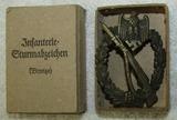 Infantry Assault Badge In Bronze W/Issue Box-Scarce Maker