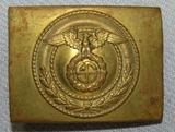 Brass Finish NSKK Motor School Personnel Belt Buckle With