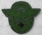 Nazi Police Embroidered Sleeve Eagle For Enlisted