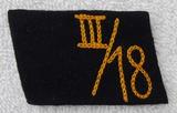 Rare SA Marine Hansa, Hessen 3rd Sturm, 18th Naval Standarte Collar Tab