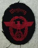Nazi Fire Police Sleeve Insignia-Town Of Wegberg