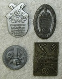 4pcs-Misc. Pre/Early WWII SA Rally Badges