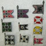 10pcs-Misc. WW2 Period Miniature Nazi Standarte Plastic Pins