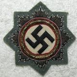 Rare WW2 Gold German Cross In Cloth-Assault Gunner Wrap Field Gray Backing