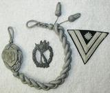 3pcs-Heer 7th Grade Marksman lanyard-Silver Infantry Assault Badge-Rank Stripe For Stabsgefreiter