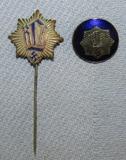 2pcs-Early 1st Pattern RLB Member Blue Enamel Badge-Member Stickpin