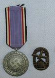 2pcs-Luftschutz Service Medal W/Ribbon-Luftschutz/RLB Pin