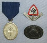3pcs-RAD Service Medal-Cap Insignia-Female RAD Worker's Brooch
