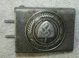 RAD Pebbled Aluminum Belt Buckle For Enlisted-Dated 1937-Hermann Aurich Maker