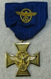 25yr Nazi Police Long Service Medal With Ribbon