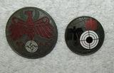 2pcs-Marksman Award Badges-Tyrol Pistol Badge Dated 1944-41/42 Dated W.H.W. Badge