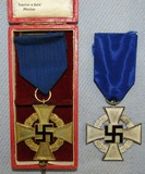 2pcs-25 & 40 Year Civil Service Medals