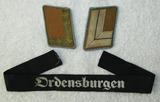 3pcs-Early Third Reich Political Leader Collar Tabs-ORDENSBURGEN Cufftitle