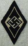 Scarce Former Hitler Youth Serving With The SS Sleeve Diamond