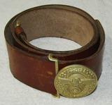 Political Leader Belt Buckle With leather Belt