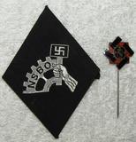 2pcs-NSBO Member's Uniform Sleeve Diamond-Numbered TENO Membship Stickpin
