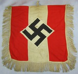 Rare Hitler Youth Double Sided Trumpet Banner