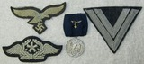 4pcs-Misc. Luftwaffe Insignia-Cap Eagle-Aircraft Mechanic-4yr Service Medal W/Ribbon Device
