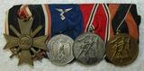 4 Place Parade Mount Medal Bar-War Merit 2nd Class-Luftwaffe 4 yr Service-Austrian/Czech Medals