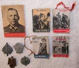 9pcs-Misc. Miniature W.H.W. Propaganda Booklets/Donation Pins
