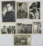 7pcs-Original WW2 Period Waffen SS Officer/Enlisted B&W Snap Shots