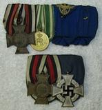 2pcs-WW1/WW2 German Parade Mount Medal Bars