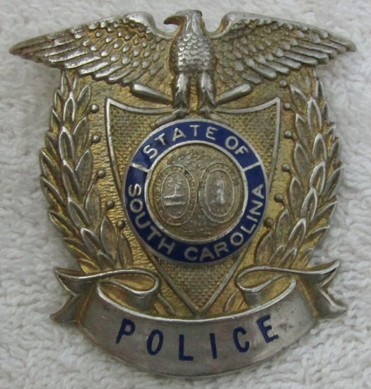 "Ca. 1930's ""SOUTH CAROLINA STATE POLICE"" Cap Badge"