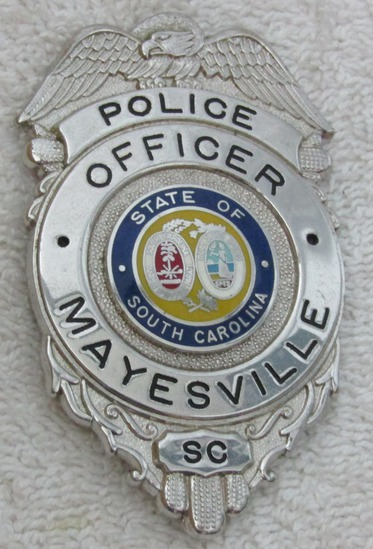 "Ca. 1960's ""MAYESVILLE, S.C. POLICE OFFICER"" Pocket Clip Badge"