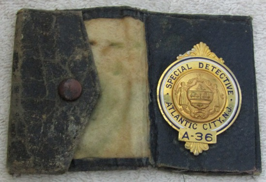 "Ca. 1940-50's ""ATLANTIC CITY, NJ SPECIAL DETECTIVE"" Numbered Wallet Badge"