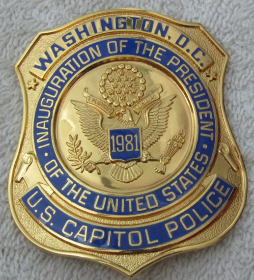 "Scarce 1981 REAGAN Presidential Inauguration ""WASHINGTON DC CAPITOL POLICE"" Badge"