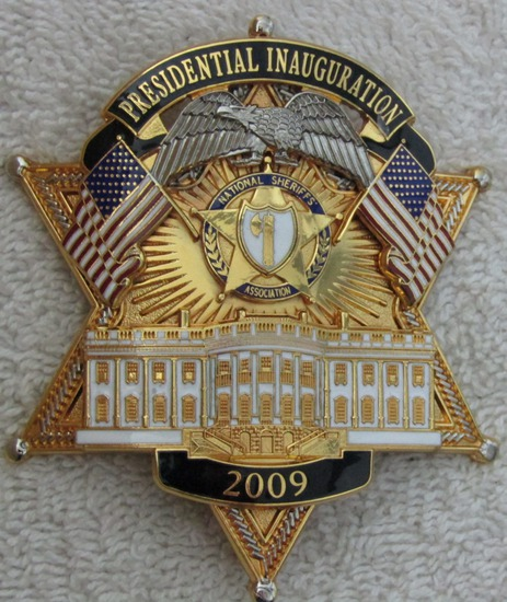 "2009  Presidential Inauguration ""NAT. SHERIFF'S ASSOCIATION"" 6 Point Star Badge"
