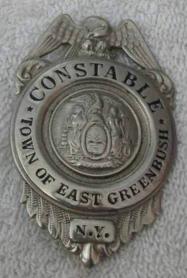 "Ca. Early 1900's ""TOWN OF EAST GREENBUSH, NY CONSTABLE"" Badge"