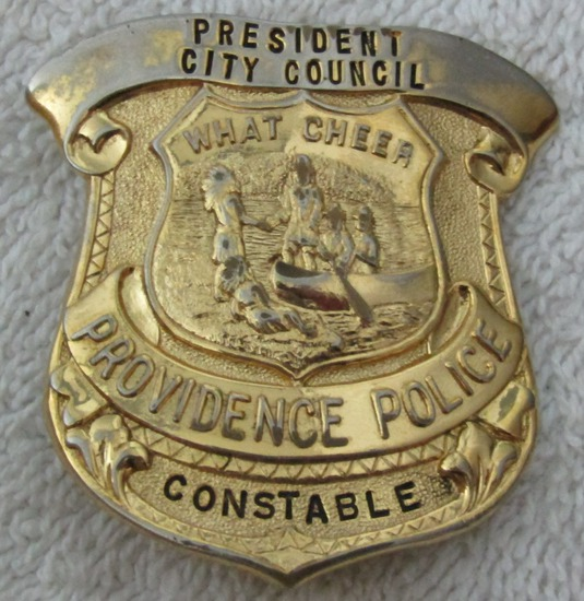 "Ca. 1930-40's ""PROVIDENCE, R.I. POLICE PRESIDENT CITY COUNCIL/CONSTABLE"" Badge"