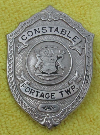 "Ca. Early 1900's ""PORTAGE TWP. MICHIGAN CONSTABLE"" Badge"