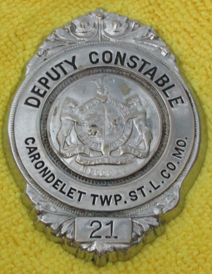 "Ca. 1930'S  ""CARONDELET TWP.ST.L.CO.MO (St. Louis Missouri) DEPUTY CONSTABLE"" Badge"